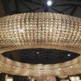 Moderno e luxuoso anel redondo LED lustre de cristal egípcio para o hotel