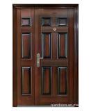 Porte en acier de garantie de double de luxe d'entrée avec le trou de piaulement pour l'appartement Fdm002