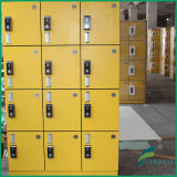 Bom cacifo de Quality Yellow 2 Column 4 Door Gym com identificação Card Digital Lock