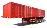 3개의 차축 밴 유형 트럭 세미트레일러