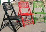 Mobília de bambu do flash da cadeira de dobradura
