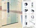 Ролик комнаты ливня нержавеющей стали для стеклянной раздвижной двери