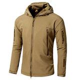 최고 방수 남자의 두건이 있는 Softshell 재킷 (QF-4122)