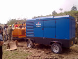 Compresor de aire portable a diesel de Copco Liutech del atlas