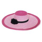 Straw rojo Hat Summer Sun Paper Hat para Women