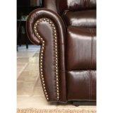 ホームシアターの手動上穀物の革リクライニングチェアのソファー