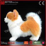 Cão macio de Pomeranian do brinquedo do luxuoso Lifelike realístico do animal enchido