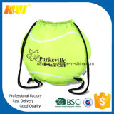 saco de Drawstring Shaped do futebol de nylon do poliéster 210d