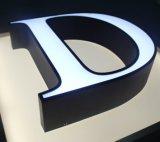 Sinal iluminado e Não-Iluminado do aço 3D personalizado fabricado das letras