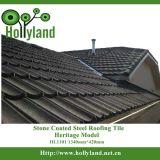 Strato del tetto del metallo con rivestito di pietra colorato (mattonelle classiche)