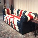 Sofa britannique en cuir de type d'unité centrale (PU-MI)