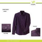 Camisas de alineada de la alta calidad de la manera del hombre de encargo del algodón (S-01)
