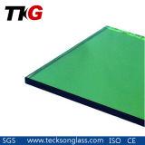 glace de flotteur teintée vert-foncé de 4-6mm