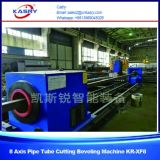 高速数値的な8つの軸線制御CNC血しょう管の管の切断および斜角が付く機械専門の製造業者KrXf8