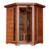 Sauna di legno del vapore con il pannello di controllo infrarosso di sauna
