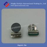 La oficina magnética de los clips acorta los clips del metal
