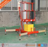 Plataforma de trabalho de alumínio de elevação aérea simples Mastro único