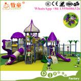 Cour de jeu de jardin d'enfants de gosses extérieure, matériel extérieur de cour de jeu de jardin d'enfants d'enfants