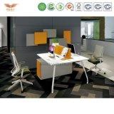 Fashion Office Oficina melamina muebles de escritorio con forma de L Volver certificación FSC tabla de la oficina (fabricante-MD18)
