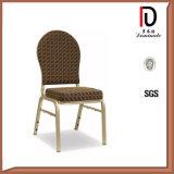 レストランの椅子(BR-A400)を食事する金属の結婚式のChiavariのアルミニウムホテルをスタックするホテルの家具