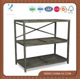 Estante de armazenamento prateleira de supermercado de madeira