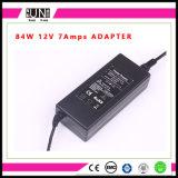 12V 7AMPS 84W力、84W LEDドライバー、84Wアダプター、12V 7AMPSのアダプター、84W LEDのアダプター