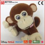 Brinquedo do macaco do luxuoso do animal En71 enchido para o bebê dos miúdos das crianças
