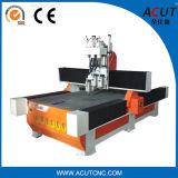 나무를 위한 3 Spindle/CNC 대패를 가진 Acut-1325 3D 목제 새기는 기계