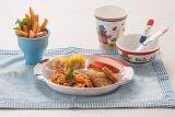 Plaat van de Lunch van het Jonge geitje van de melamine de Seires 3-verdeelde (NBG808)