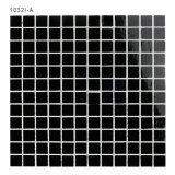 Черные стеклянные листы плитки мозаики