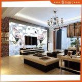 Décoration murale 3D Peinture à l'huile Grande fleur et papillon Décoration d'intérieur Fond d'écran de fond d'écran TV
