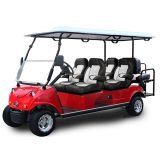 6 Seaterの白い赤の電気スポーツ用品のゴルフ車