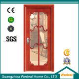 Personalize porta de madeira sólida do pátio com vidros