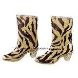 PVC Ladies High Heel Boots, Comfort Shoes для Lady (AB-F2)