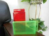 caixa plástica do PVC da cor (caixa de embalagem do presente)