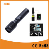 USB Power 은행 600lumens 크리 말 T6 LED Flashlight (POPPAS-6618)