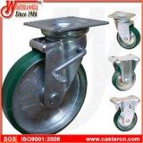 Japanische Art-industrieller Stahlkern-Gummirad-Fußrolle