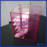 Yageli 공장 분홍색 색깔 5 서랍 아크릴 메이크업 조직자
