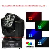 4PCS 10W RGBW 4in1 LED bewegliches Hauptsummen-Licht