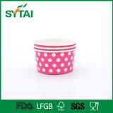 Cuvettes de papier potables froides remplaçables de crême glacée de bol de potage avec le conteneur de papier de paille