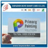 Cartão transparente do PVC da venda quente