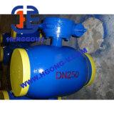 Valvola a sfera saldata gas dell'acciaio di getto dell'attrezzo di DIN/API Wrom