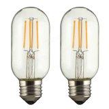 Dimmable E27 E26 T45 4W calienta los bulbos retros 110V/220V de Edison LED del filamento blanco de la MAZORCA LED