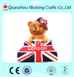 Magneten van de Koelkast van de Hars van de Teddybeer van het Teken van Londen van de Stijl van Europa van de douane de Goedkope Leuke
