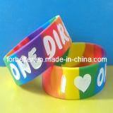 Misuro il Wristband in pollici del silicone (FBT-005)