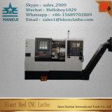 Ck80L Cの軸線の精密CNCの自動CNCの傾いたベッドの旋盤