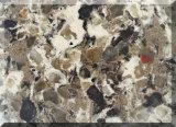 Superficie artificiale del solido della pietra del quarzo della decorazione variopinta