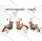 Ornamento del amortiguador de la trenza con los ornamentos Handstitched de la Saludo-Navidad