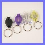 Helle Taschenlampe der weißer purpurroter UVhöhepunkt-kleinste Miniauto-Taste-LED Keychain
