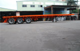 Flatbed Semi Aanhangwagen 40feet 3axle/Enige Band